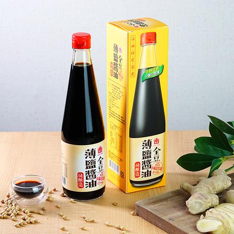 全豆純釀造薄鹽醬油(520ml)