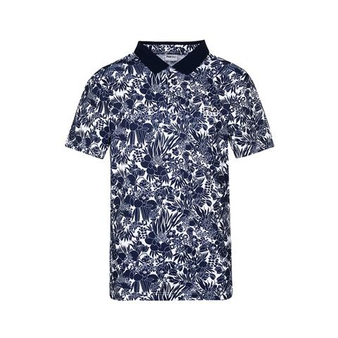 FILA GOLF 短袖吸排透氣POLO衫-白 1POV-2100-WT