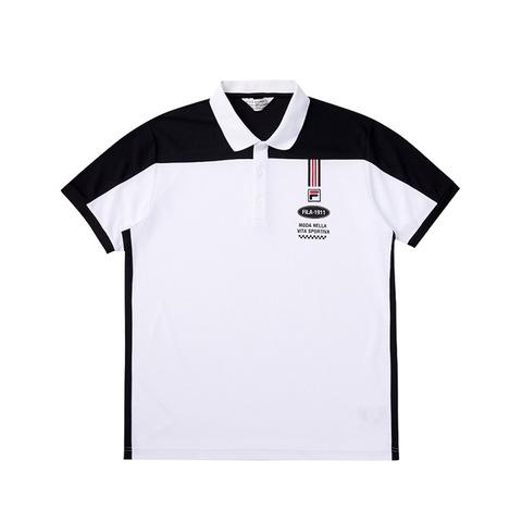FILA POLO衫-白色 1POV-1706-WT