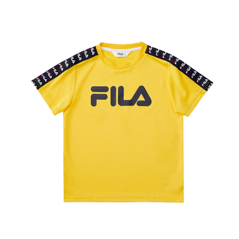 FILA KIDS 吸排上衣-黃色 1TEV-4423-YE