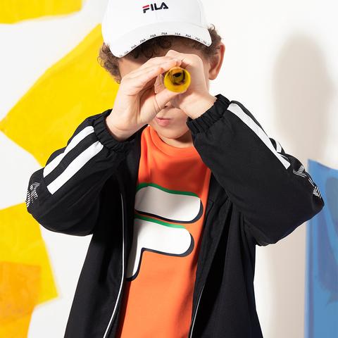 FILA KIDS 長袖上衣-橘 1TEU-8300-OR