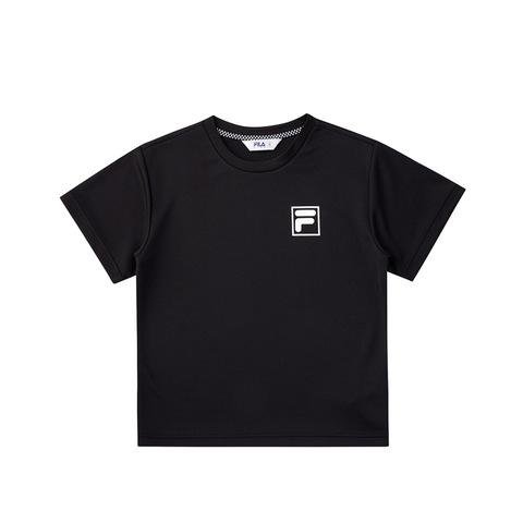 FILA KIDS 吸排上衣-黑色 1TEV-4444-BK