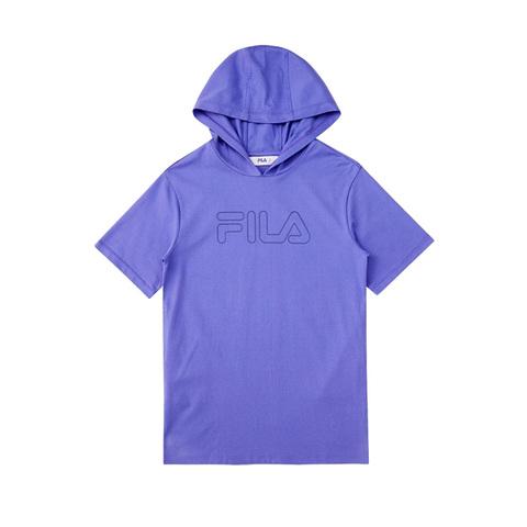 FILA KIDS 長版連帽上衣-紫 5TEV-4505-PL