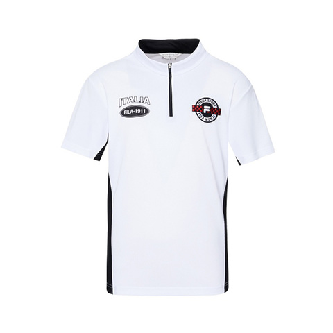 FILA 半門襟T恤-白色 1TEV-1703-WT