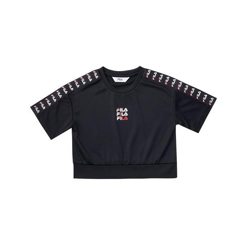 FILA KIDS 吸排上衣-黑色 5TEV-4435-BK