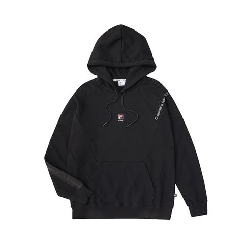 FILA 長袖連帽T恤-黑色 1TEV-1825-BK