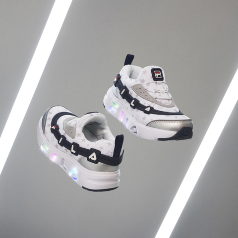 FILA KIDS GGUMI 中童電燈鞋-灰/丈青 2-C141V-125