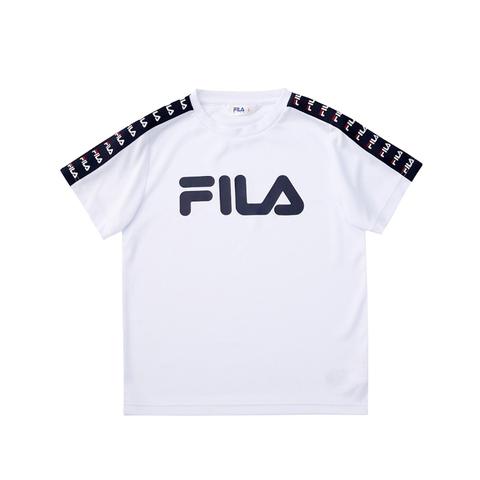 FILA KIDS 吸排上衣-白色 1TEV-4423-WT