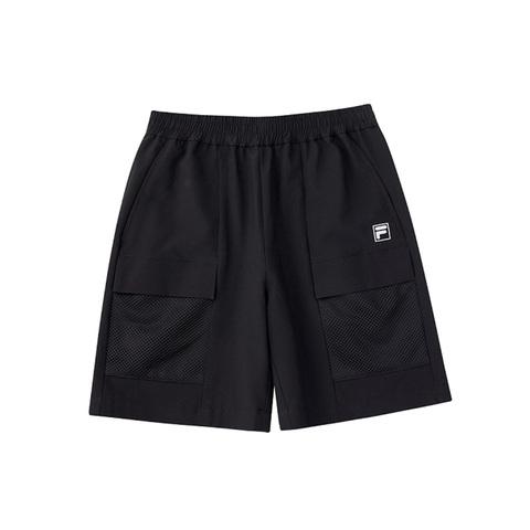 FILA KIDS 彈性短褲-黑 1SHV-4310-BK
