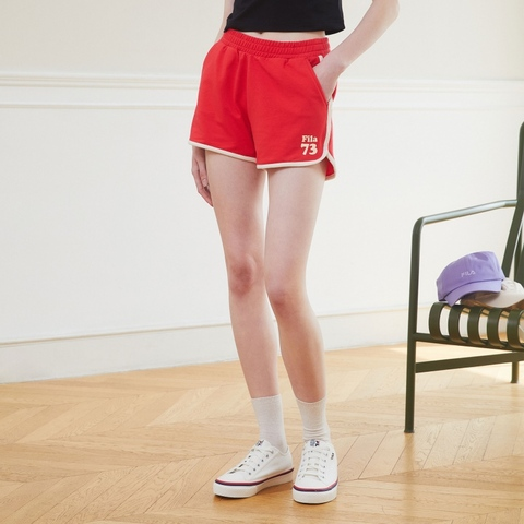 FILA 運動短褲-紅色 5SHV-1215-RD