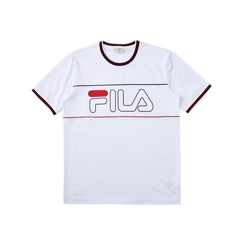 FILA 圓領T恤-白色 1TEV-1467-WT