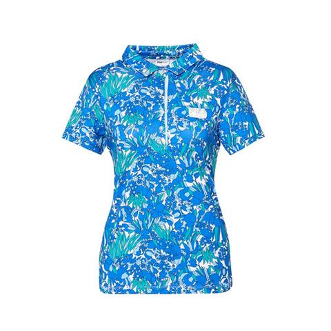 FILA GOLF 短袖吸排透氣POLO衫-寶藍 5POV-2104-BU