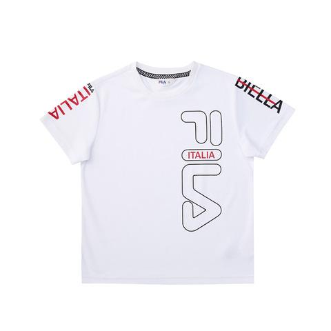 FILA KIDS 吸排上衣-白色 1TEV-4446-WT