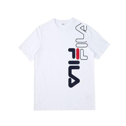 FILA 圓領上衣-白 1TEV-1502-WT
