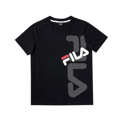 FILA KIDS 圓領上衣-黑 1TEV-4900-BK