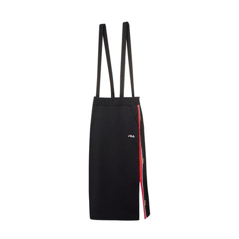 FILA 針織吊帶裙-黑色 5SKV-1719-BK