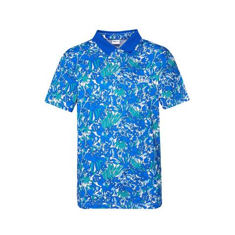 FILA GOLF 短袖吸排透氣POLO衫-寶藍 1POV-2100-BU
