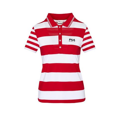 FILA GOLF 涼感短袖POLO衫-紅 5POV-2126-RD