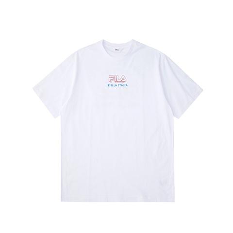 FILA 圓領上衣-白 1TEV-1503-WT