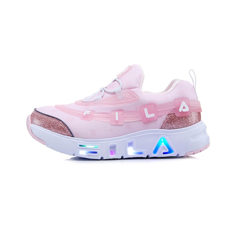 FILA KIDS GGUMI 中童果凍電燈鞋-粉 2-C143V-154