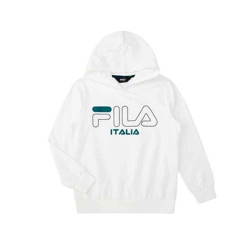 FILA KIDS 針織連帽TEE-白色 1TEU-8904-WT