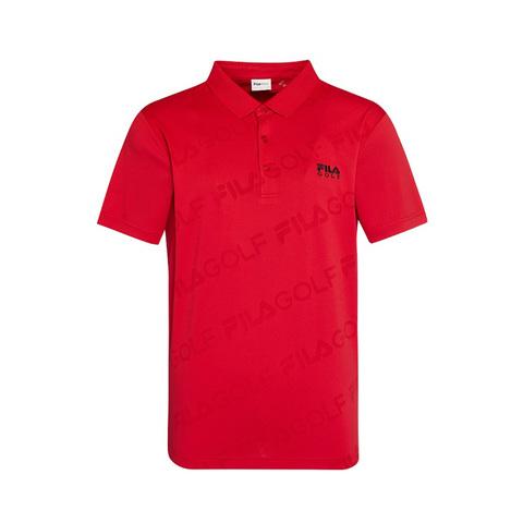FILA GOLF 短袖吸排透氣POLO衫-紅 1POV-2003-RD