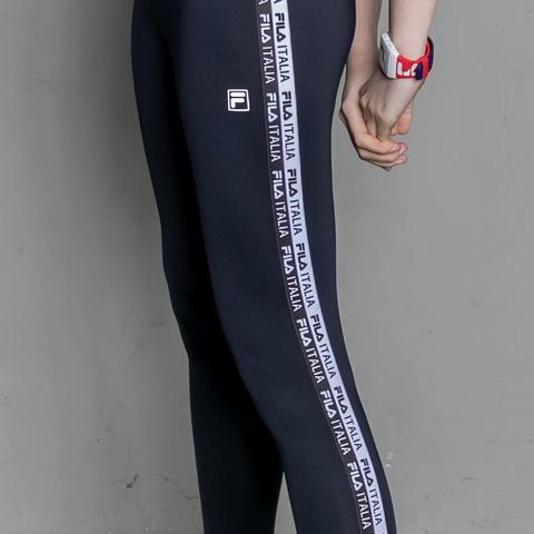 FILA 合身長褲-黑 5PNV-1320-BK