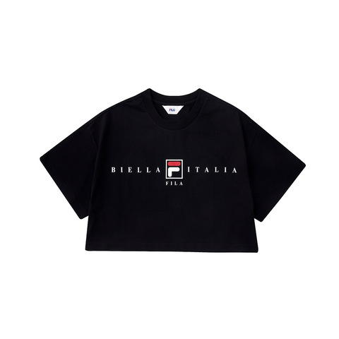 FILA 圓領上衣-黑 5TEV-1508-BK