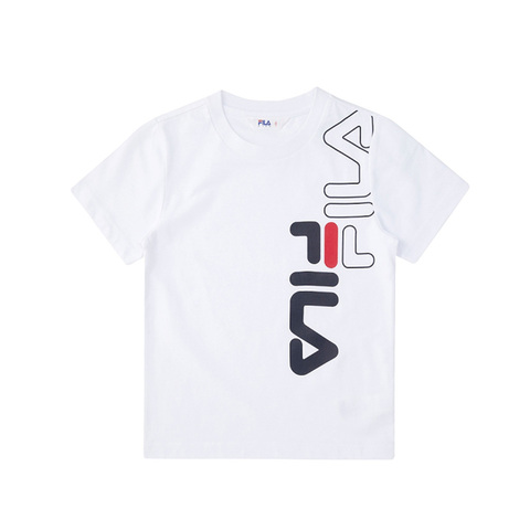 FILA KIDS 圓領上衣-白 1TEV-4502-WT