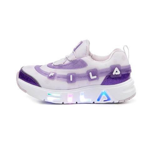 FILA KIDS GGUMI 中童果凍電燈鞋-紫 2-C143V-694