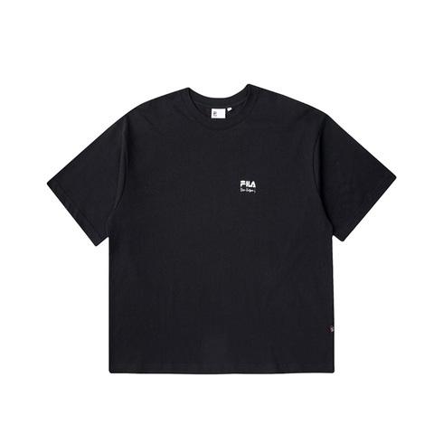FILA 短袖圓領T恤-黑色 1TEV-1820-BK