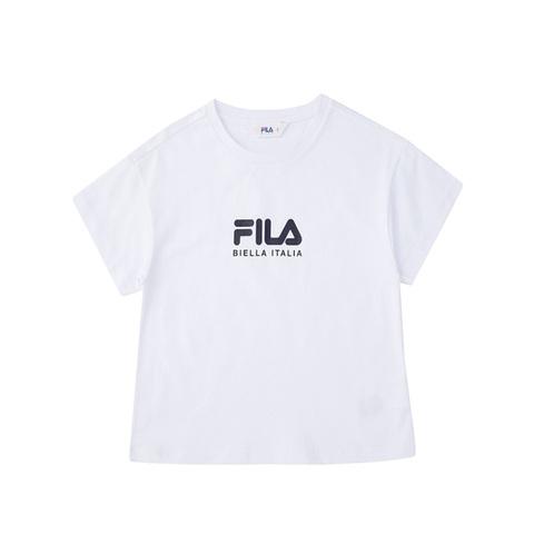 FILA KIDS 圓領上衣-白 5TEV-4504-WT