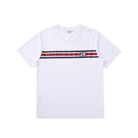 FILA 圓領T恤-白色 1TEV-1451-WT