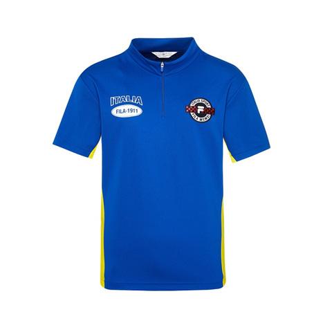 FILA 半門襟T恤-寶藍 1TEV-1703-AB