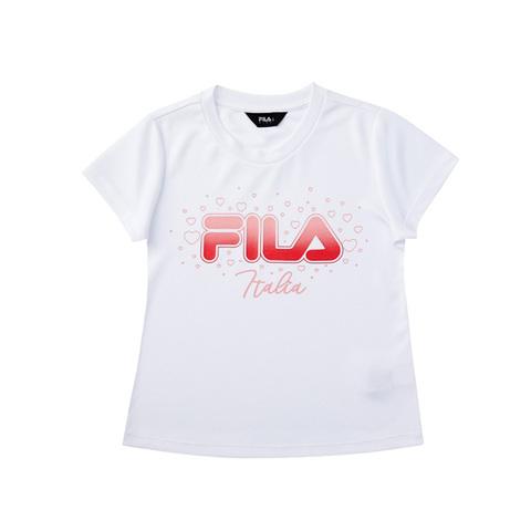 FILA KIDS 吸排上衣-白 5TEV-4909-WT