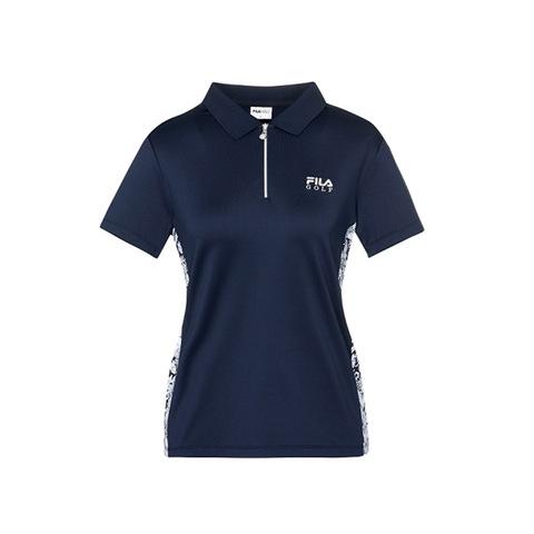 FILA GOLF 短袖吸排透氣POLO衫-丈青 5POV-2105-NV