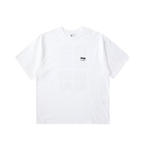 FILA 短袖圓領T恤-白色 1TEV-1820-WT