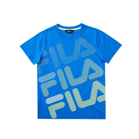 FILA KIDS 圓領上衣-寶藍 1TEV-4902-BU