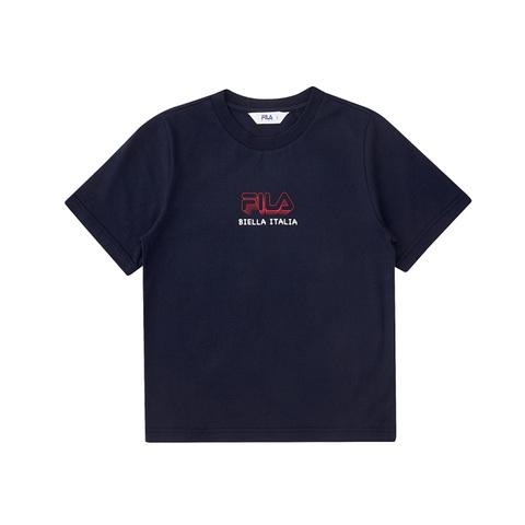FILA KIDS 圓領上衣-丈青 1TEV-4503-NV