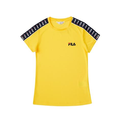FILA 圓領T恤-黃色 5TEV-1482-YE