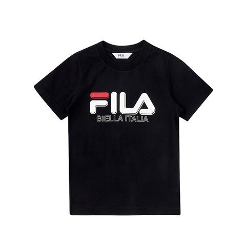 FILA KIDS 圓領上衣-黑 1TEV-4501-BK