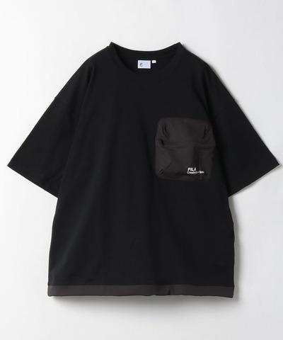FILA 山系大口袋短袖T恤-黑色 1TEV-1823-BK