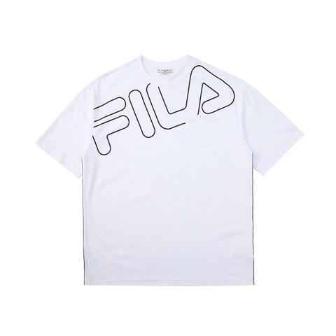 FILA 短袖圓領T恤-白色 1TEV-1460-WT