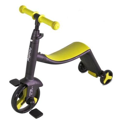 奧地利 Nadle 三合一多功能三輪滑步車/滑板車/三輪車(黃色)
