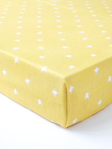 台灣 Organic B 有機比比 嬰兒有機棉紗床包-日光小鳥