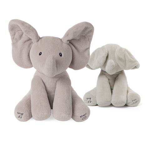 美國GUND 小象躲貓貓互動玩偶安撫玩具