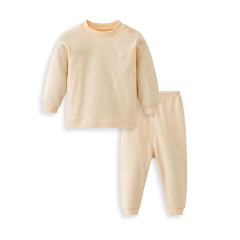 【網路獨家款】les enphants  精梳棉素面半高領套裝-黃色