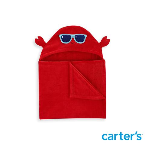 Carter's 台灣總代理 立體螃蟹造型紅色沙灘巾(OSZ)