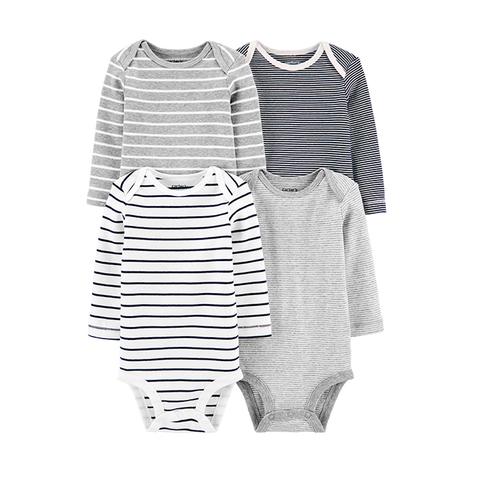Carter's 台灣總代理 簡約條紋4件組包屁衣(PRE(早產兒)-18M)