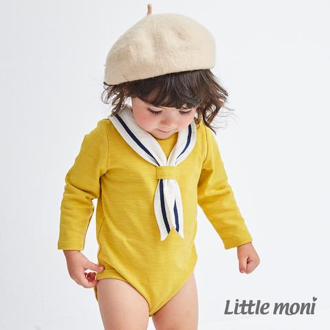 Little moni 海軍學院風包屁衣(黃色)